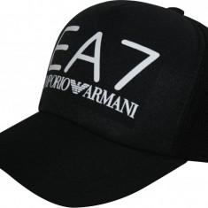 Sapca Emporio Armani EA7 - Sapca, Sepci Trucker cu Plasa - Sapca Barbati Armani, Marime: Marime universala, Culoare: Negru