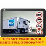 "GPS Navigatii GPS ecran 5""Igo Primo Truck, GPS harti GPS TIR Full Europa 2017, 5 inch, Toata Europa, Lifetime, Car Sat Nav, peste 32 canale"