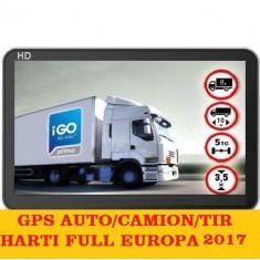 "GPS Navigatii GPS ecran 5""Igo Primo Truck,GPS harti GPS TIR Full Europa 2017, Toata Europa, Lifetime"