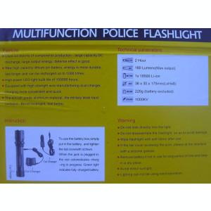 Electrosoc Metalic Police in Forma de Lanterna Include si Incarcator