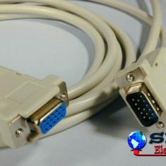Cablu prelungitor monitor VGA 15p tata - VGA 15p mama 3m Well