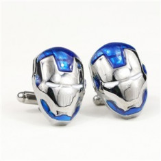 Butoni camasa SUPER EROU IRON MAN blue model deosebit + ambalaj cadou