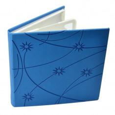 Carcasa Procart pentru 4 cd dvd bluray colorful piele ecologica culoare albastru