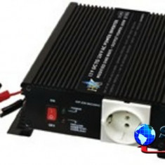 Invertor de tensiune 24V-230V,600W,incarcator de baterie incorporat,SCHUCO,HQ