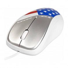 Mouse Tracer Amerikana White, USB, Optica