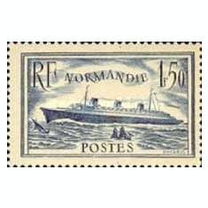 Franta 1935 Normandie, vapor, neuzata