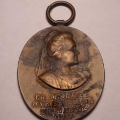 Medalie Regina Elisabeta Societatea de Binefacere Munca 1911 - Medalii Romania