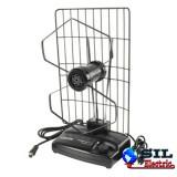 Antena interior TV, radio, receptie analogica, digitala, VHF, UHF, 0-25 dB, negru, Konig