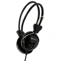 Casti SBox Over Ear HS-888 Black, Casti Over Ear, Cu fir, Mufa 3, 5mm