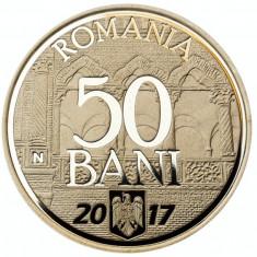 50 bani 2017 PROOF 10 ani de la aderarea la UE, in caseta plastic transparent - Moneda Romania