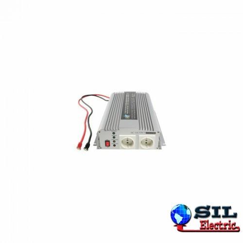 Invertor tensiune cu incarcator 12V DC -> 230V AC, 1000W, unda sinusoidala modificata HQ