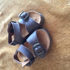 Sandale Piele Zara copii nr 18/19 noi - Sandale copii Zara, Culoare: Maro, Piele naturala