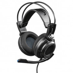 Casti Gaming Hama Urage Soundz 7.1 Premium Black - Casca PC Hama, Casti cu microfon, USB