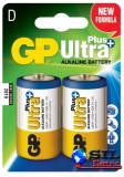 Baterie ultraalcalina UltraPLus GP R20 (D) 2 buc/blister, G&P