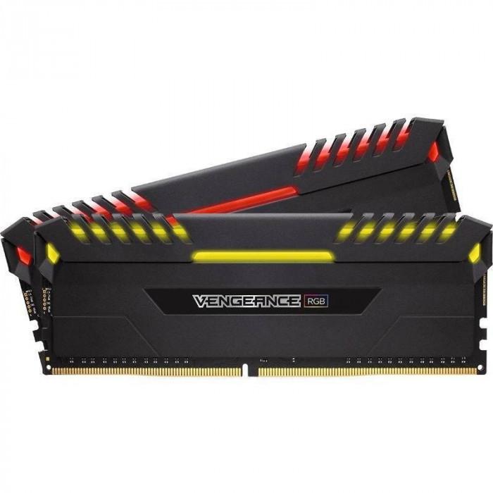 Memorie Corsair Vengeance LED RGB 16GB DDR4 3600 MHz CL18 Dual Channel Kit foto mare