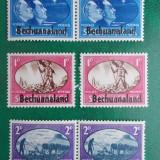 Bechuanaland 1945 colonii regele George VI supratipar - serie nestampilata MH