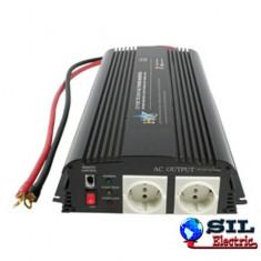 Invertor de tensiune 12V-230V, 1700W, iesire USB 5V, HQ
