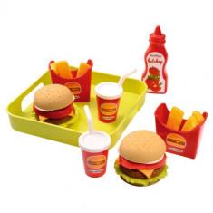 Set Hamburger cu Cartori Prajiti Ecoiffier