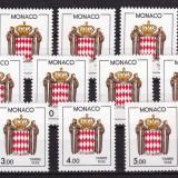Monaco 1985/1986 uzuale stema, serie neuzata