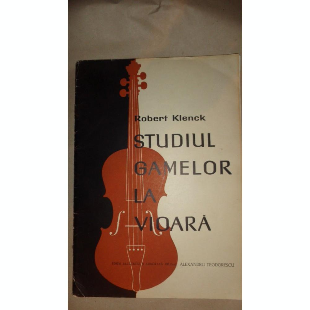 Studiul Gamelor La Vioara Anexa Robert Klenck Arhiva