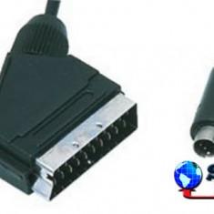 Cablu audio/video SCART 21 pini tata S-VHS 4 pini tata, 1.5m, Well
