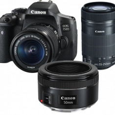 "Camera foto Canon EOS750D 18-55S+50MM, 24.2 MP, CMOS, 3"" vari-angle LCD touch screen, DIGIC 6, 5 - Aparat Foto compact Canon"