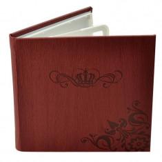 Carcasa Procart 4 cd dvd wax piele eco model coroana culoare visiniu