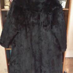 Haină lungă de damă din blană naturală - haina de blana
