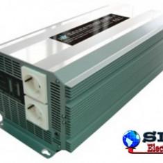 Invertor de tensiune 24V-230V, 2500W, SCHUKO, HQ