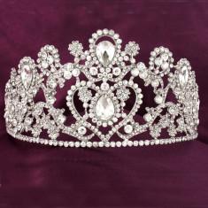 Diadema / coroana / tiara mireasa cu cristale tip Swarovski - Tiare mireasa
