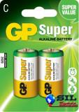 Baterie alcalina Super GP R14 (C) 2 buc/blister, G&P
