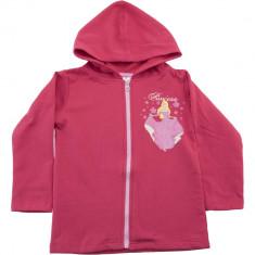 Hanorac roz cu fermoar pentru fetite, Princess Disney