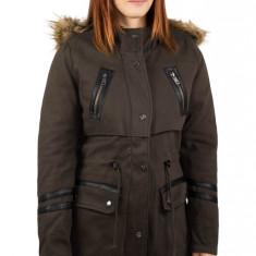 Jacheta de iarna kaki Parka 2 in 1 Costes cu gluga, de dama