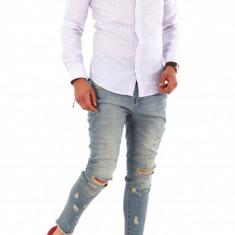 Camasa carouri - camasa barbati - camasa slim - camasa fashion - cod 8684, Marime: S, XL, XXL, Culoare: Din imagine, Maneca lunga