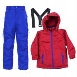 Jacheta si pantaloni Ski copii, Pocopiano, Rosu / Albastru - Echipament ski