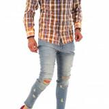 Camasa tip Zara - camasa barbati - camasa slim - camasa fashion - cod 8670, Marime: S, M, L, XL, XXL, Culoare: Din imagine, Maneca lunga