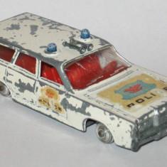 Matchbox King Size - Mercury Police Car directie activa - deteriorata
