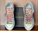 Adidasi CONVERSE All Star Padded ORIGINALI custom handmade masura 43 Unicat, Alb, Textil