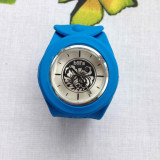 Ceas elvetian Bill's Watches interchimbabil, curea albastra. Sub pretul Pietei - Ceas barbatesc, Casual, Quartz, Otel, Cauciuc, Analog