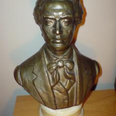Bust Eminescu bronz, pentru birou. - Sculptura, Europa