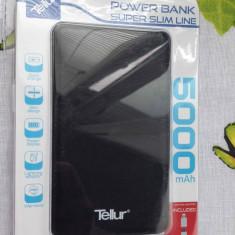 Acumulator extern Tellur Super Slim Line 5000 mAh, Micro USB + Lightening, Black - Baterie externa