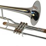 Trombon Karl Glaser SI-b supapă, argint / aur NOU