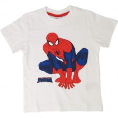 Tricou alb Spiderman Marvel, pentru baieti