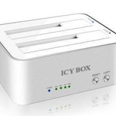 Rack HDD RaidSonic Rack Icy Box IB-120CL-U3 Alb/Argintiu