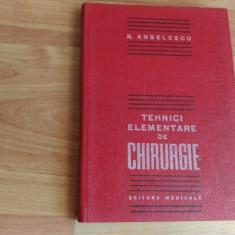 TEHNICI ELEMENTARE DE CHIRURGIE - Carte Chirurgie