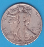 (3) MONEDA DIN ARGINT SUA - HALF DOLLAR 1945, FARA LITERA, WALKING LIBERTY