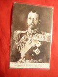 Ilustrata - Regele Angliei  George V- Ed. Paris -ww1, Necirculata, Fotografie