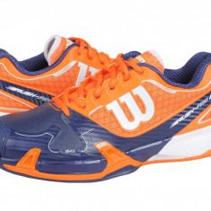 Adidasi tenis barbati Wilson Rush Pro 2.0 Clay Court blue-orange WRS320930 - Adidasi barbati Wilson, Marime: 41 1/3