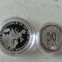 50 bani 2017 PROOF - 10 ani de la Aderarea la U.E. - Tiraj 5.000 buc. - Moneda Romania