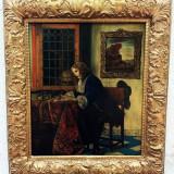 Tablou vechi stil renastere - Pictor roman, Portrete, Ulei, Realism